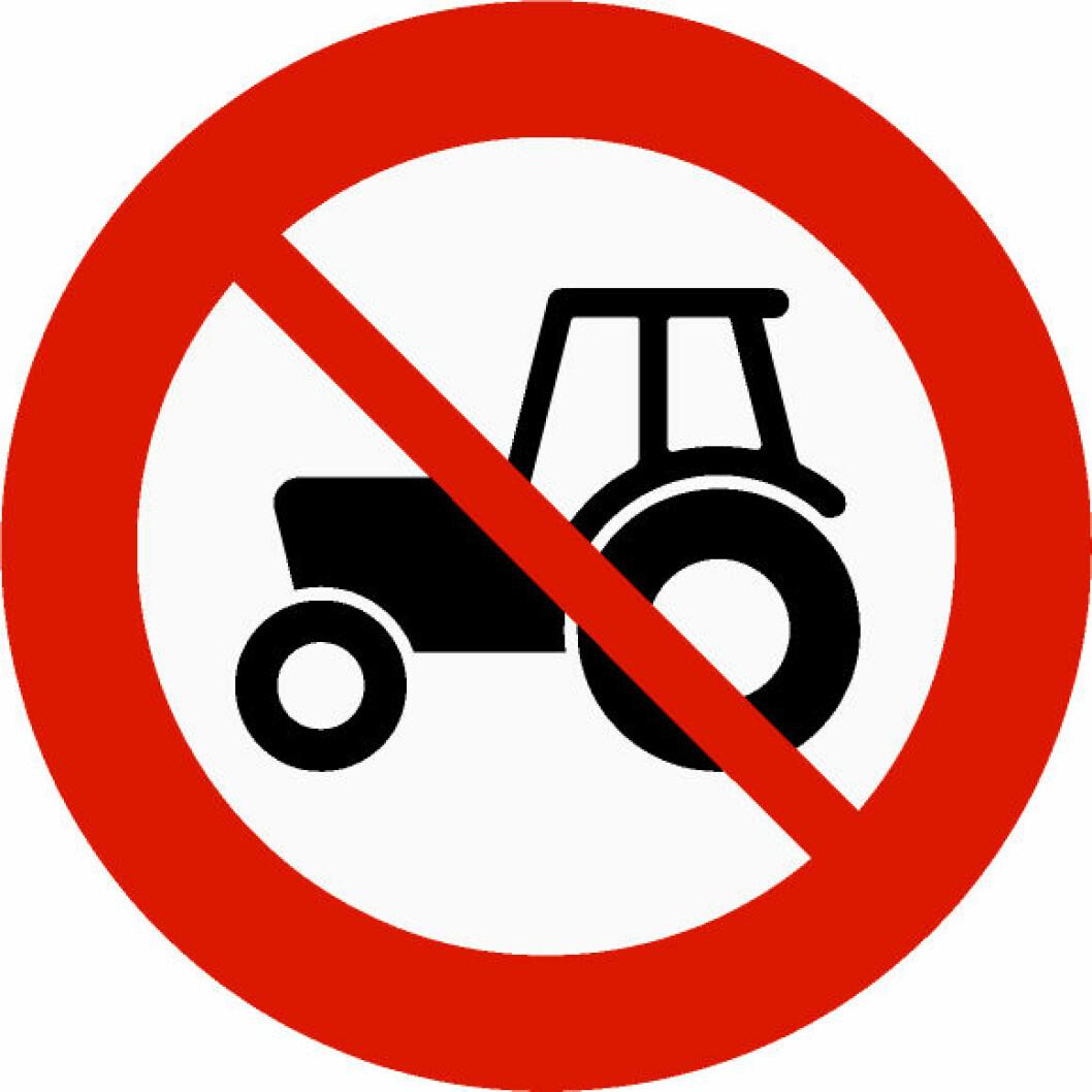 Forbudt for traktor skilt 306_3