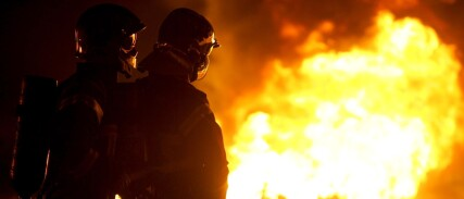 Branninstruks på polsk og russisk