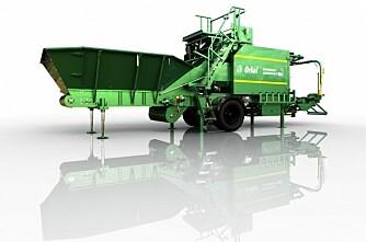Berger grønt korn med Compactor
