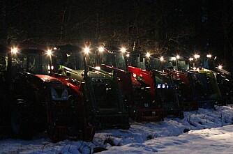 Lys på vintertraktorer