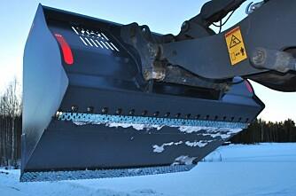 Isriverskuffe for traktor og hjullaster