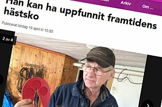 Svenske hestesko av plast