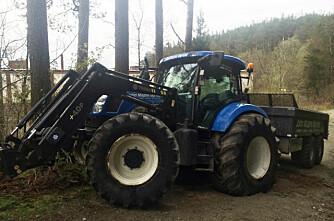 Stjålet traktor er kommet til rette