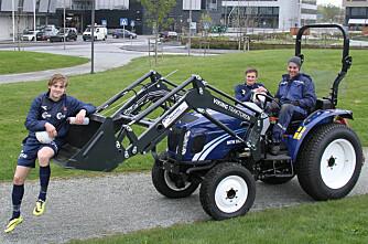 Blå traktor til blå Vikinger