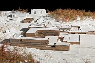 Veterinærbygg av 115 000 tonn betong