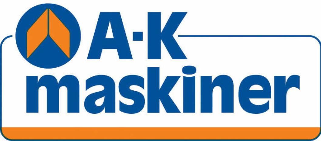 A-K maskiner logo