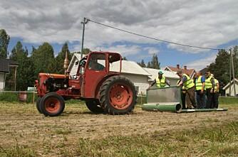 Traktorpulling med veteraner