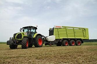Hvor tung henger kan traktoren dra?