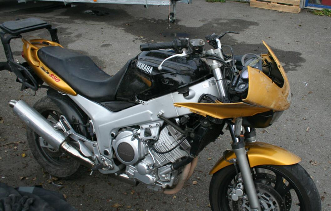 Ødelagt motorsykkel
