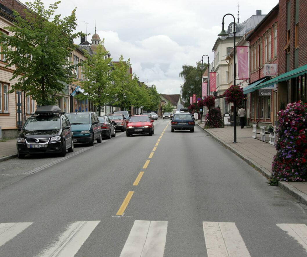 For å redusere faren for ulykker, mener Statens Vegvesen det er best at all landbrukstrafikken sluses gjennom Levanger sentrum.