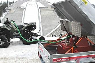 Bensintransport under Ski-VM