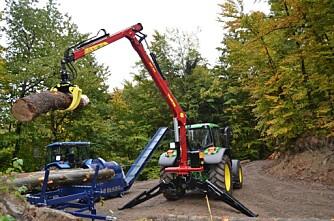 Traktormontert tømmerkran
