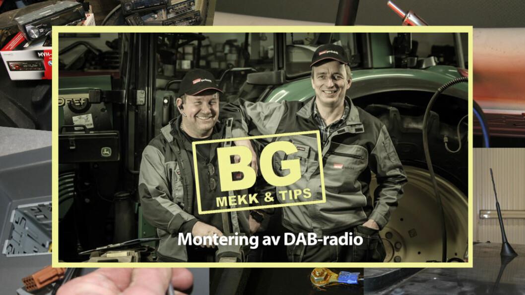 Håkon og Terje viser hvordan du kan montere DAB-radio i traktoren.