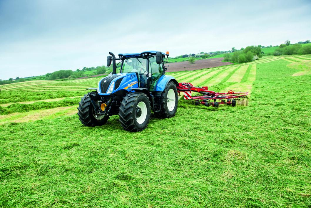 To nye New Holland-traktorer er stjålet. Illustrasjonsbilde. (Traktoren på bildet har ingenting med saken å gjøre.)