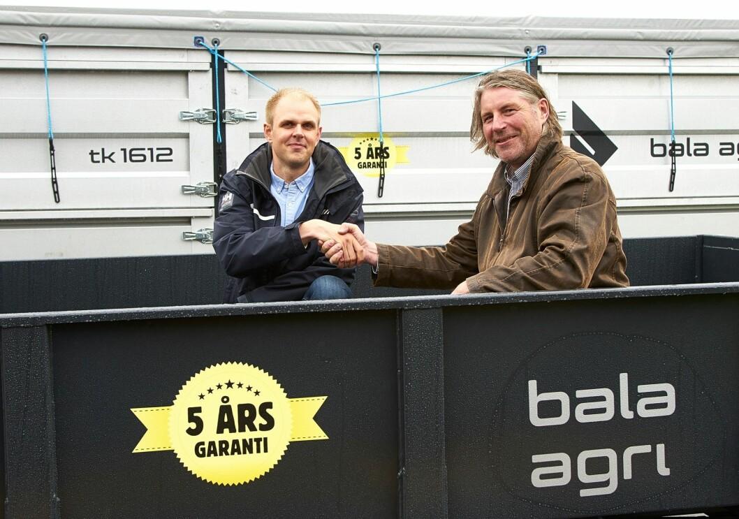 Fra venstre: Kristian Jonsson i Bala Agri og Håvard Brynjulvsrud i A-K.