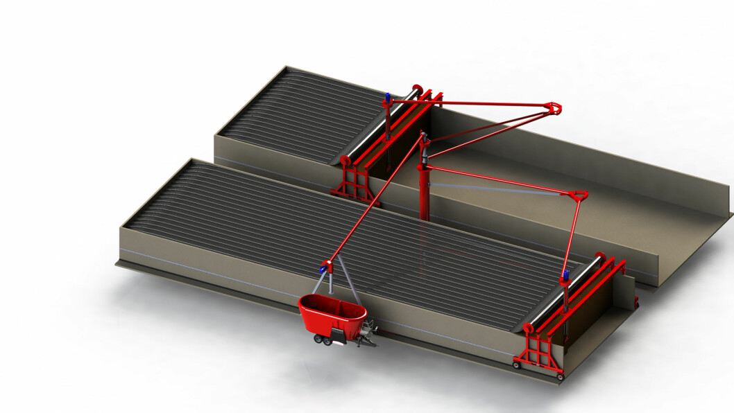 Den automatiske uttakeren ruller til og med av tildekkinga over palnsiloen.