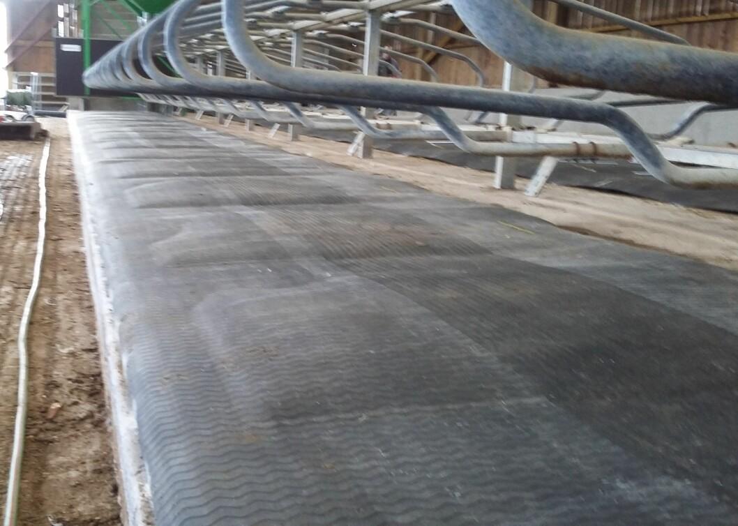 I hver liggebås er det en vannlomme som skal minske trykket på underlaget og gi kua god komfort. Foto: Agromek