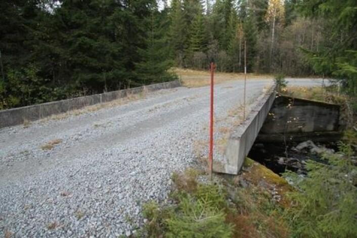 Brukar av betong er nådeløse å kollidere med, og må markeres godt.