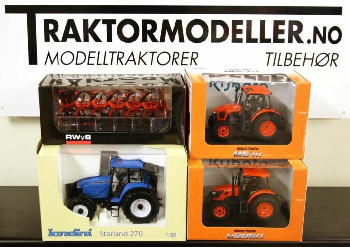 Premie 1. desember: Fire sjeldne 1:32-modellar frå Traktormodeller.no.