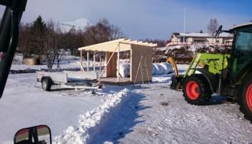 Bygde kalvehytte til 11 000 kroner