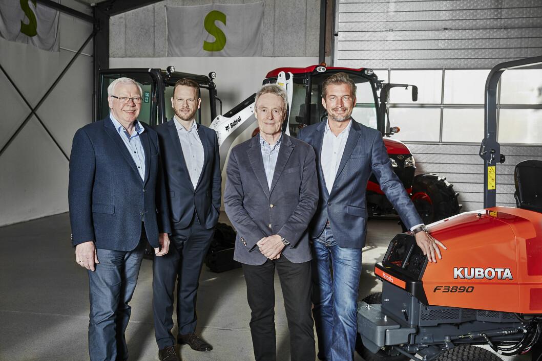 Fra venstre, Niels Svenningsen, Mogens Lyngsø, Jac Nellemann og Benny Svenningsen.