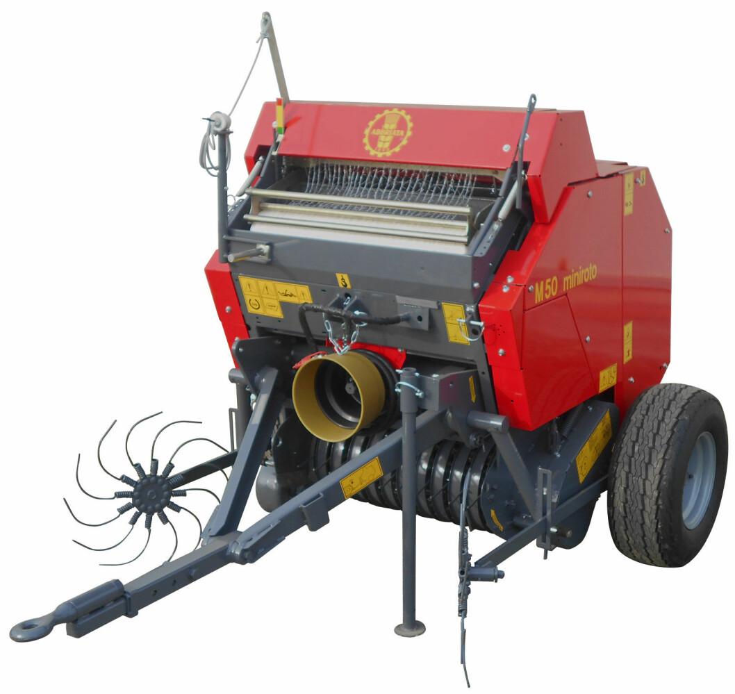 Maskin Importøren skal selge minipresser fra Abbriata. Produktfoto.