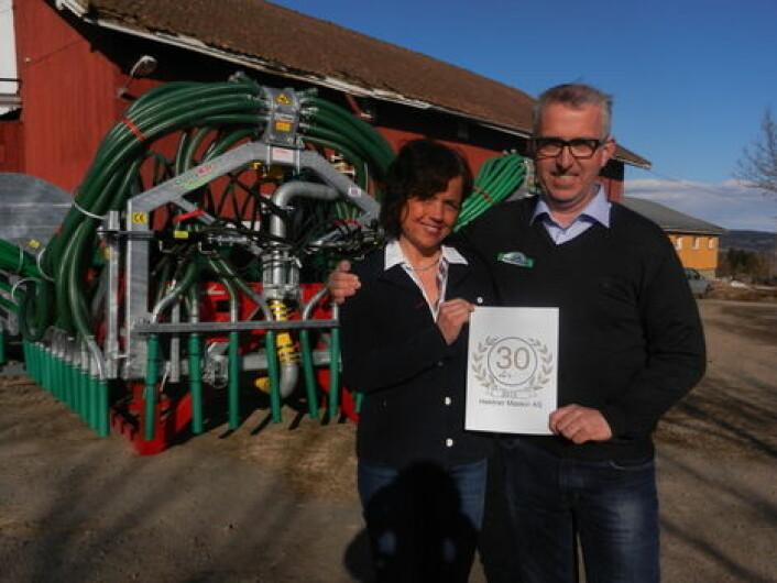 Marie og Hans Christian Hektner den gang firmaet fylte 30 år i bransjen. I år runder de 35 år.
