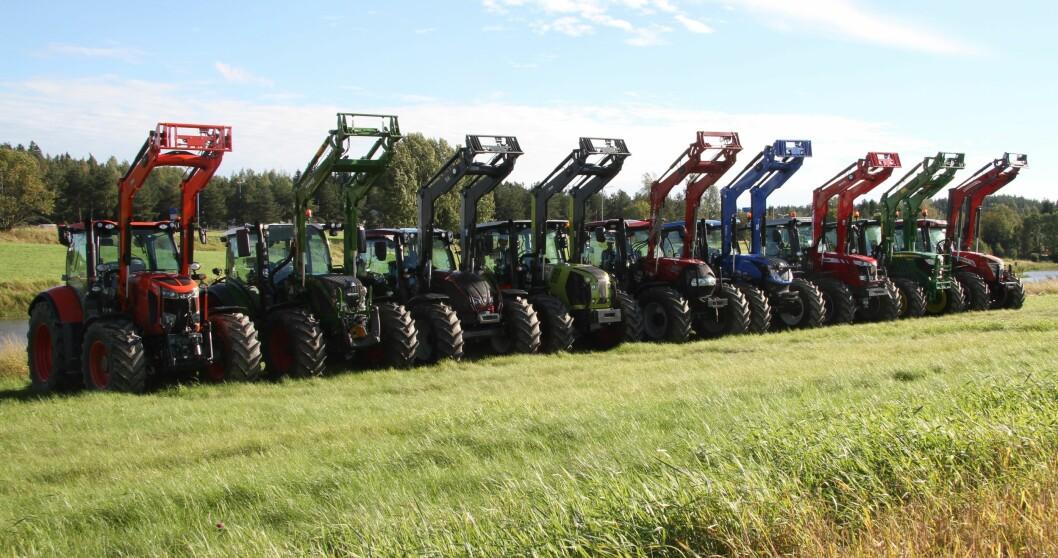 Traktoroversikten er nå tilgjengelig. Bildet er fra fjorårets store traktortest.