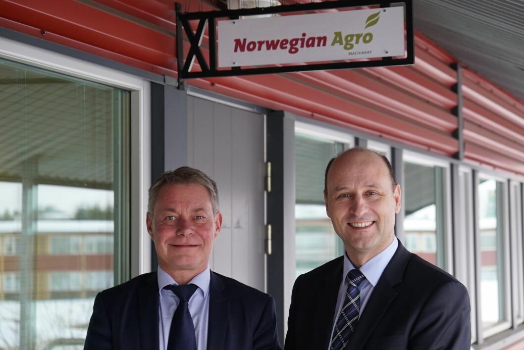 Michael Husfeldt til venstre, Jens Skifter til høyre. Foto: Danish Agro Machinery