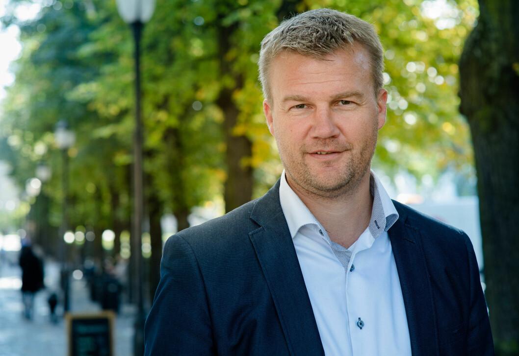 Konsernsjef Ole Laurits Lønnum i Landkreditt. Foto: Bjørn Stuedal