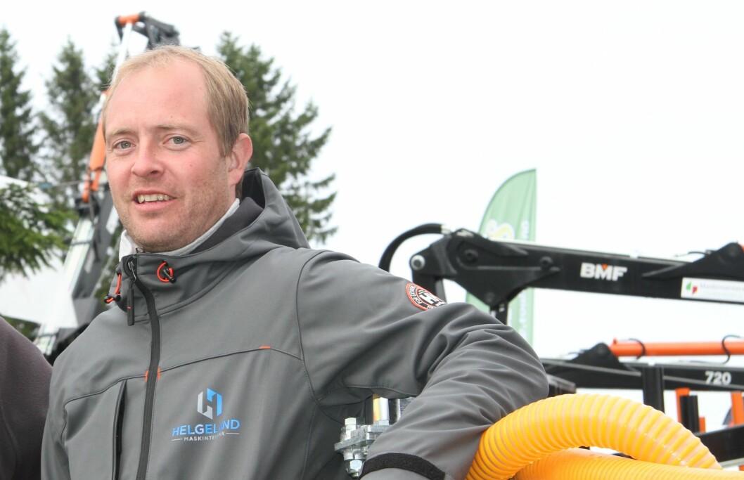 Espen Hestvik Johansen, daglig leder i Helgeland Maskinteknikk AS. Foto: Sesselja Bigseth