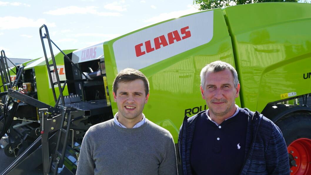 Hans Petter Blomstereng (t.v.) og Frank Brandser fra Total Maskinservice AS. Foto: Norwegian Agro Machinery