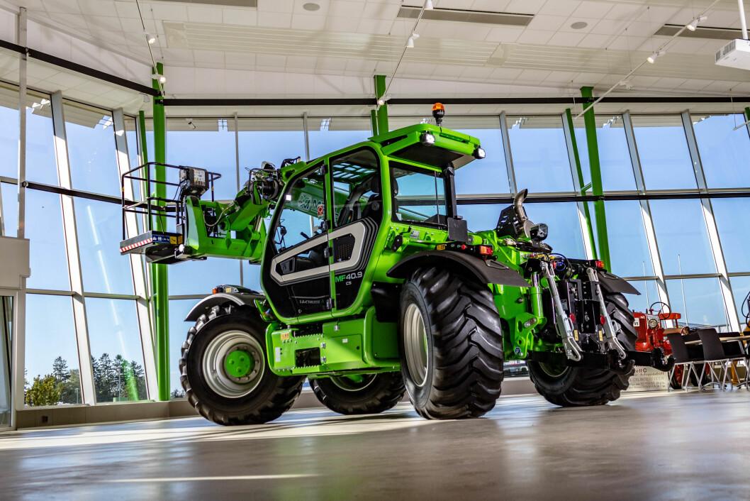Merlo Multifarmer 40.9 vil gjerne ta opp kampen med landbrukstraktoren gjennom sin allsidighet. Foto: produsenten