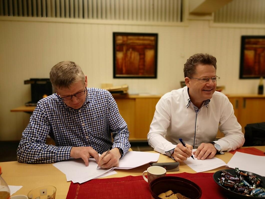 Sigbjørn Westreng og Erik Grefberg. Foto: A-K Maskin