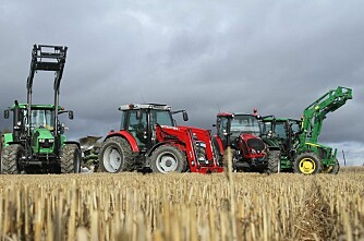 Rødt traktormarked i hele Europa