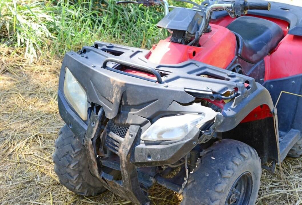 Det har vært en rekke uhell med ATV i sommer. Foto: Colourbox