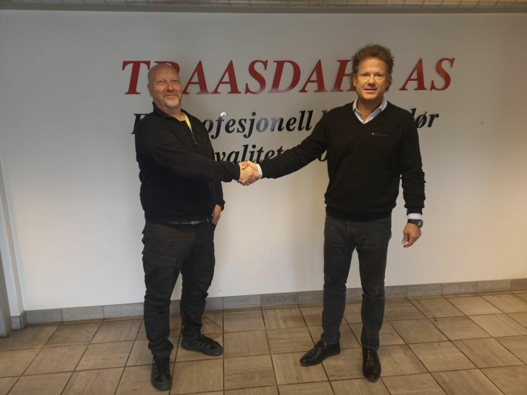 Bjørn Traasdahl og Erik Grefberg. Foto: A-K Maskiner