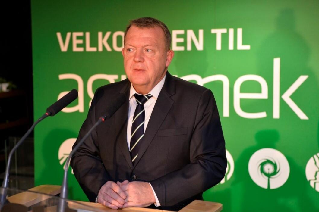 Tidligere danske statsminister Lars Løkke Rasmussen åpner forrige Agromek. Nå legges utstillinga til januar. Foto: Agromek