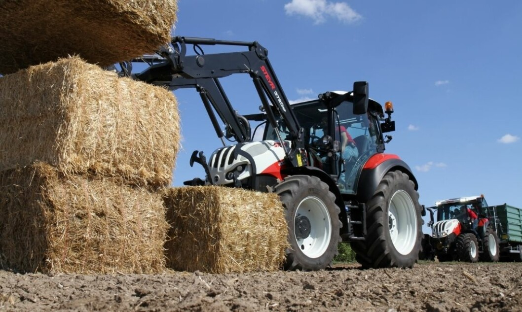 Steyr 4130 CVT er en av kandidatene til Tractor of the Year (Toty).