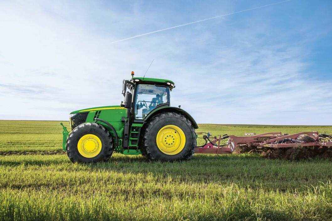 JD har registrert 174 traktorer færre i 2019 enn 2018. Foto: FK