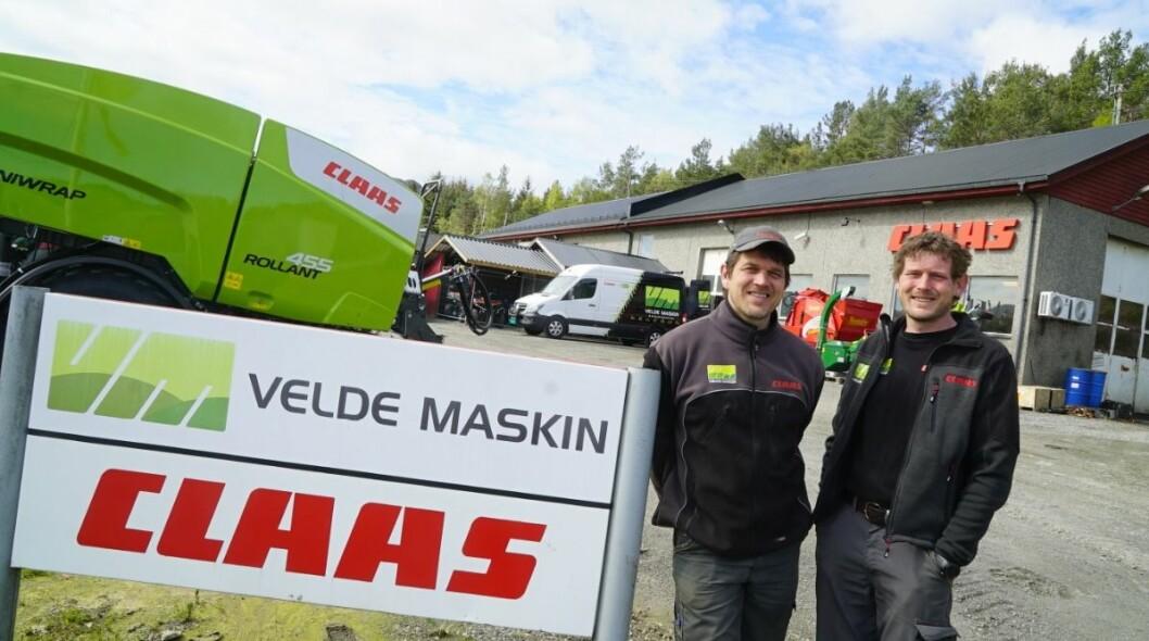 Harald og Asbjørn Velde i Velde Maskin. Foto: Velde Maskin