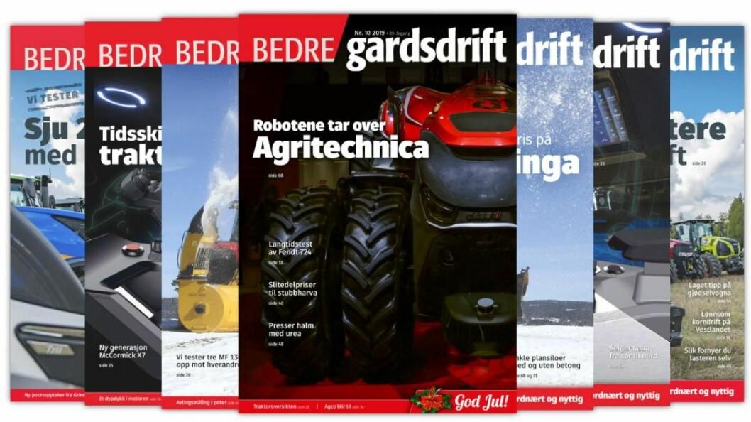 Årets siste utgave av Bedre Gardsdrift er nå på vei til en postkasse nær deg.