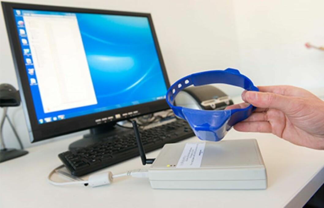 Sensorer myntet på storfe kan nå også brukes på småfe fordi sensorene er blitt så små og nette. Foto: IceRobotics