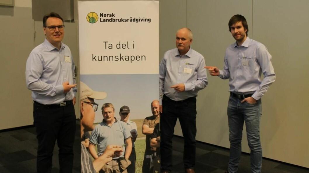 Fra venstre: Gunstein Dyrdal, Atle Haugnes og Stian Sand Gunnarsen i NLR.