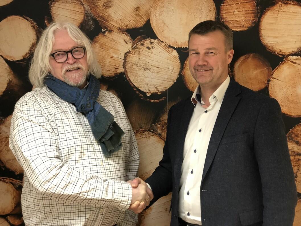Fra høyre: Ketil Koppang og Ole Laurits Lønnum. Foto: Landkreditt