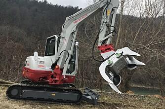 Multiredskap til gravemaskiner