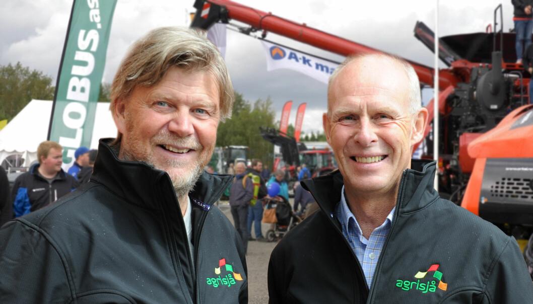 Daglig leder og messeleder i Agrisjå Ole T. Hofstad (til venstre) og styreleder Jan-Yngvar Kiel i Trøndersk Landbruk AS venter spent på myndighetenes retningslinjer for utstillinger og festivaler. (Foto: Agrisjå)