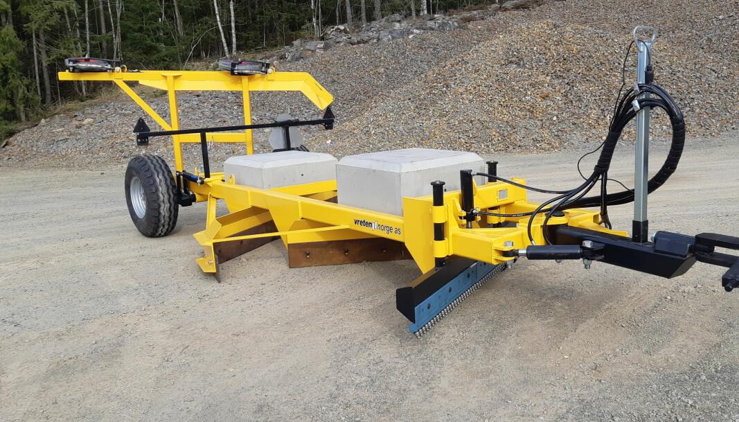 Slangeholderen og draget på V 30 Pro er tilpasset høyden på dagens traktorer.