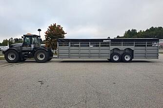 Spesialbygd dyrevogn på 12 meter