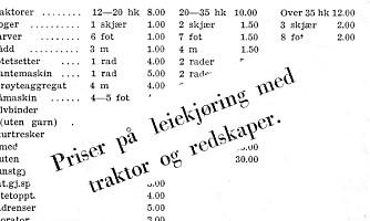 Slik var maskinleieprisene for over 60 år siden